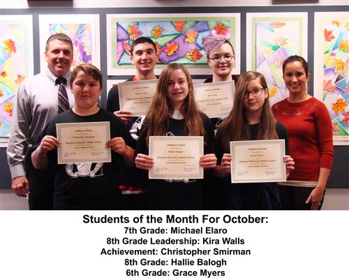 October Students of the Month