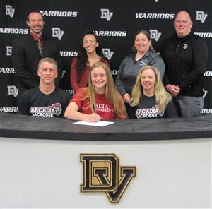 Emily Covert signs with Arcadia University