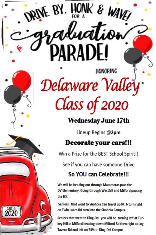 DVHS Parents Organize Parade for Class of 2020